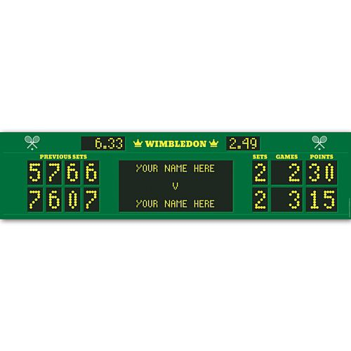 Wimbledon Tennis Scoreboard Sign Personalised Banner - 1.2m