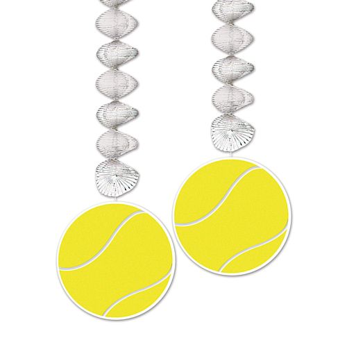 Tennis Ball Dangler Hanging Decorations - 76cm - Pack of 2