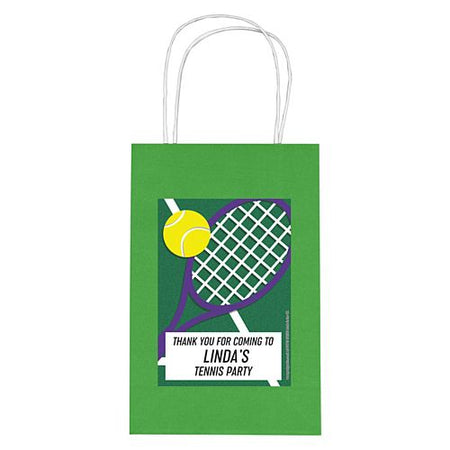 Personalised Tennis Paper Party Bags - Pack of 4