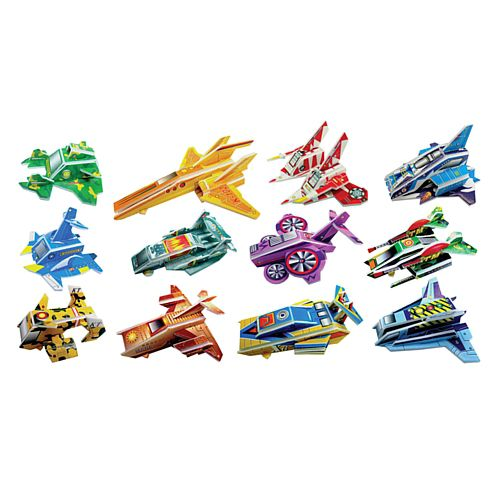 Build a Spaceship 3D Puzzle - 12 Assorted Designs