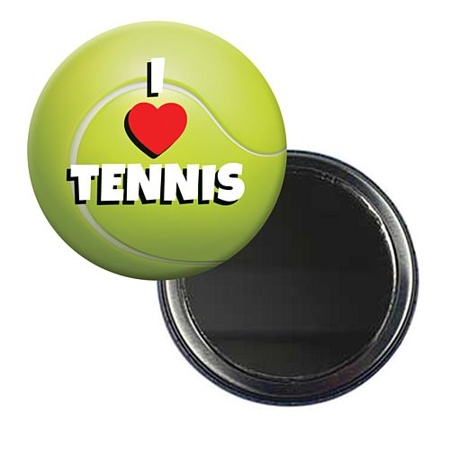 I Love Tennis Wimbledon Mirror - 5.8cm - Each