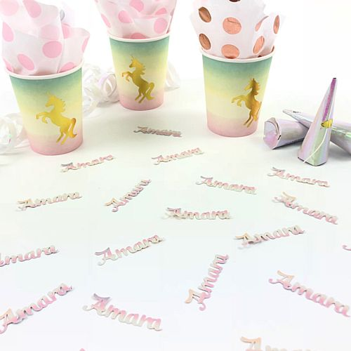 Personalised Name Confetti Pastel Ombre - 40 Pieces