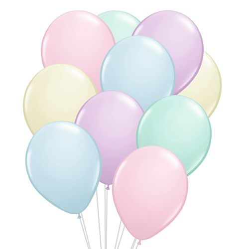 "Assorted Colour Pastel Latex Balloons - 12"" - Pack of 20"