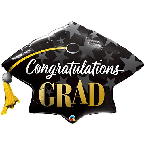 Congratulations Grad Mortarboard Hat Supershape Balloon - 41""
