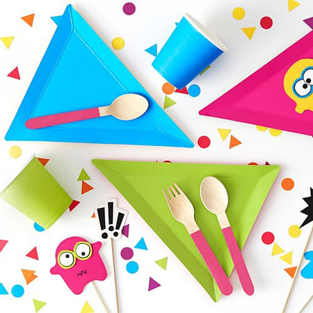 Click to view product details and reviews for Bright Colours Wooden Cutlery 16cm Pack Of 18.