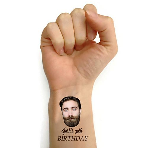Personalised Bespoke Tattoos - Pack of 16 - Add your Face and Text