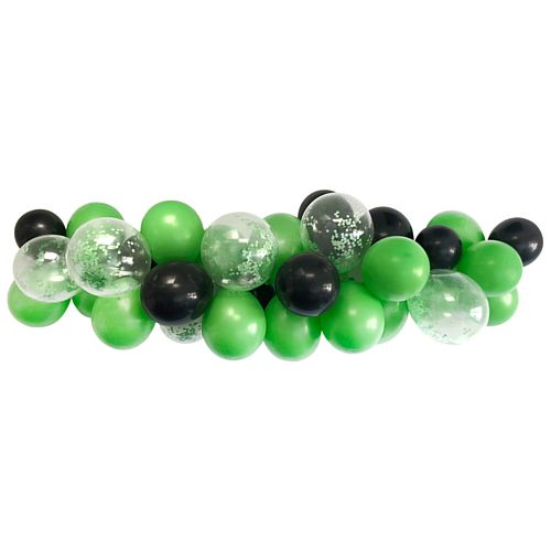 Green and Black Balloon Arch DIY Kit - 24 Balloons - 2.5m