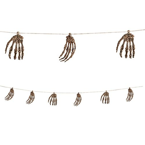 Halloween Voodoo Skeleton Hands Garland - 2.35m