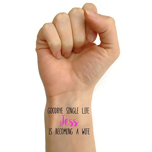 Personalised Hen Party Tattoos - Pack of 16 - 'Becoming a Wife' Design