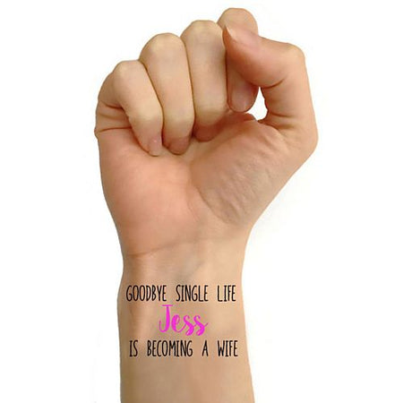Click to view product details and reviews for Personalised Hen Party Tattoos Pack Of 16 Becoming A Wife Design.