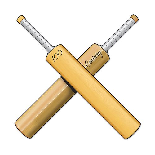 Cricket Bat Card Cutout - 25cm