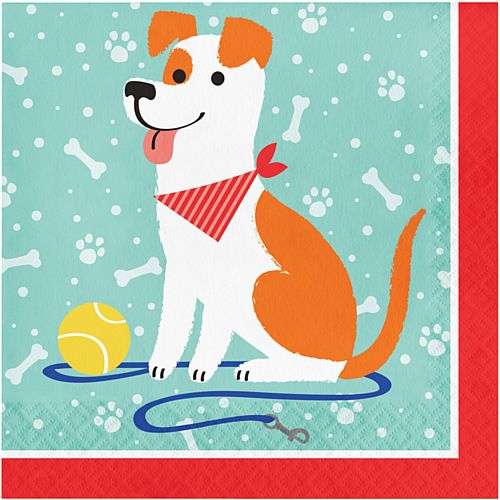 Dog Party Napkins - 33cm - Pack of 16
