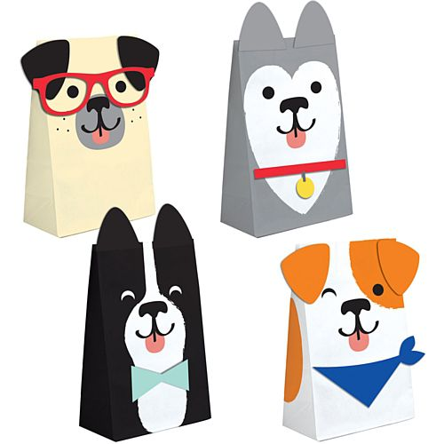 Dog Party Paper Treat Bags - Pack of 8