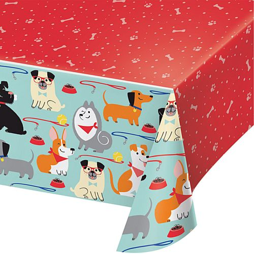 Dog Party Plastic Tablecover - 2.6m