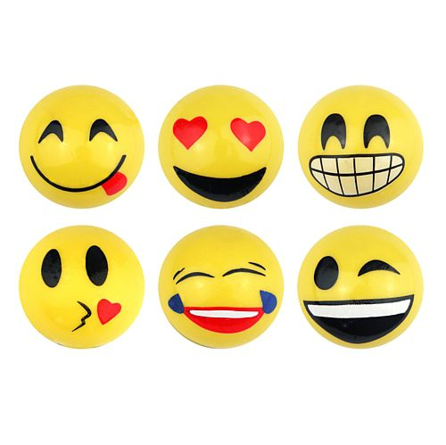 Smiley Face Emoji Splat Ball - Assorted Designs