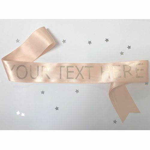 Peach Personalised Sash - 50mm