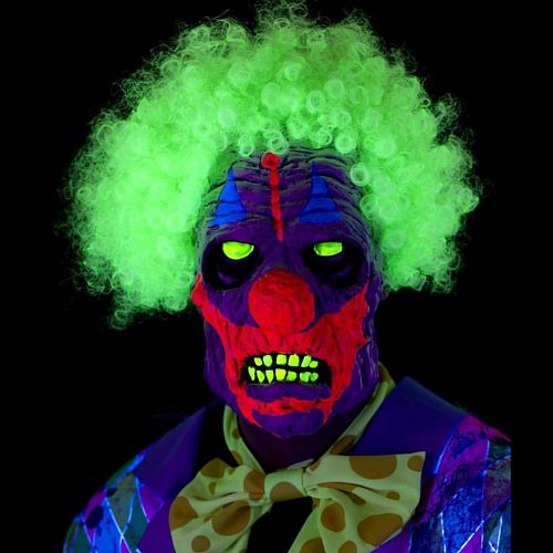 UV Black Light Scary Clown Mask