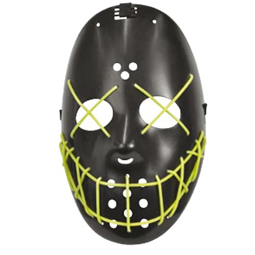 Black and Green Glow in the Dark Mask