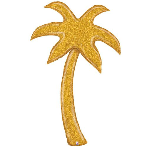 Gold Glitter Palm Tree Foil Balloon - 60""