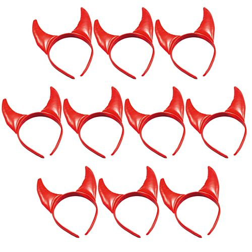 Red Devil Horns - Pack of 10