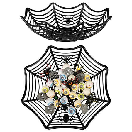 Click to view product details and reviews for Halloween Spiderweb Food Basket 27cm.