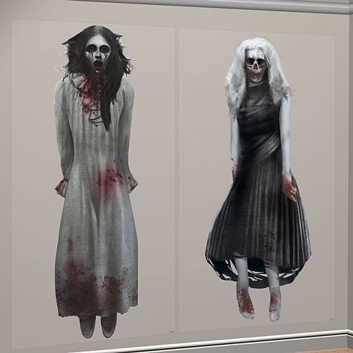 Halloween Ghost Girls Wall Decorations - 1.65m - Pack of 2