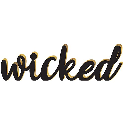 Halloween 'Wicked' Wooden Sign Decoration - 39cm - Each