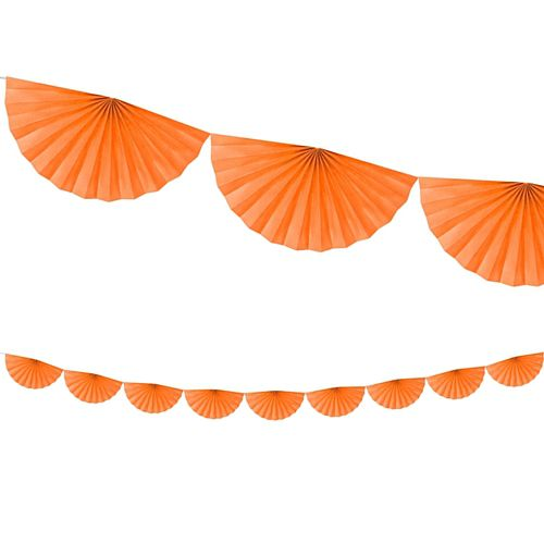 Orange Tissue Fan Garland - 3m