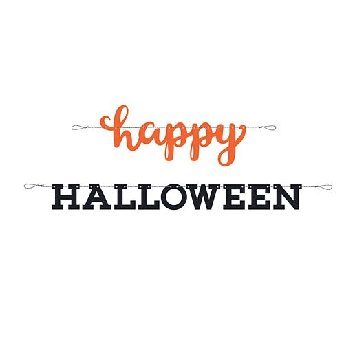 Happy Halloween Letter Banner Decoration - 2.13m - Set of 2