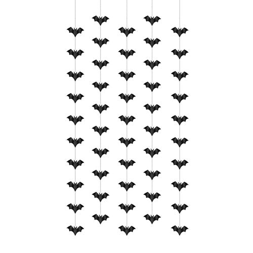 Halloween Bats String Decoration - 5 Strings - 1m