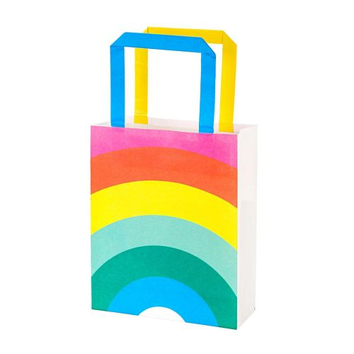 Rainbow Paper Party Bag - Pack of 8