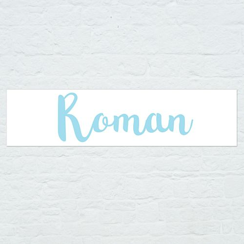 Personalised Name Banner - Light Blue - 1.2m
