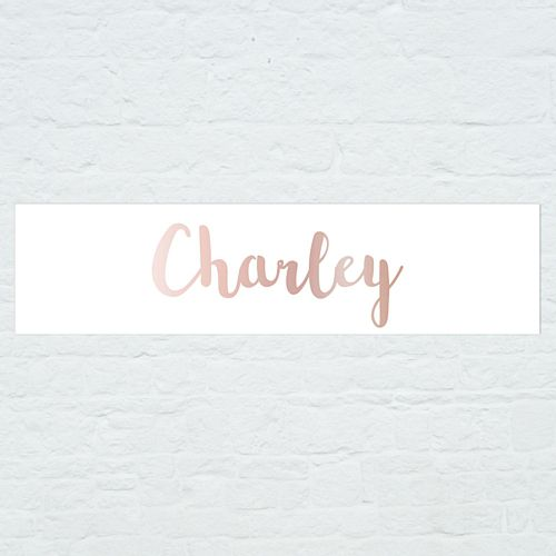 Personalised Name Banner - Rose Gold - 1.2m