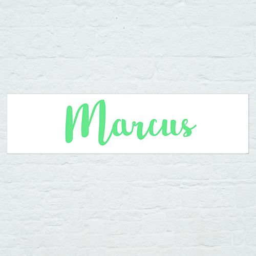 Personalised Name Banner - Green - 1.2m