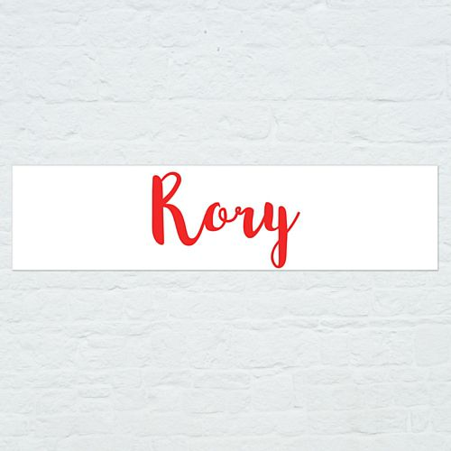 Personalised Name Banner - Red - 1.2m