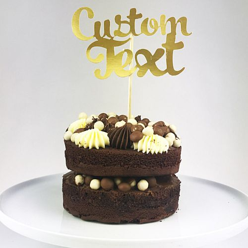 Personalised Gold Foil Cake Topper - Each