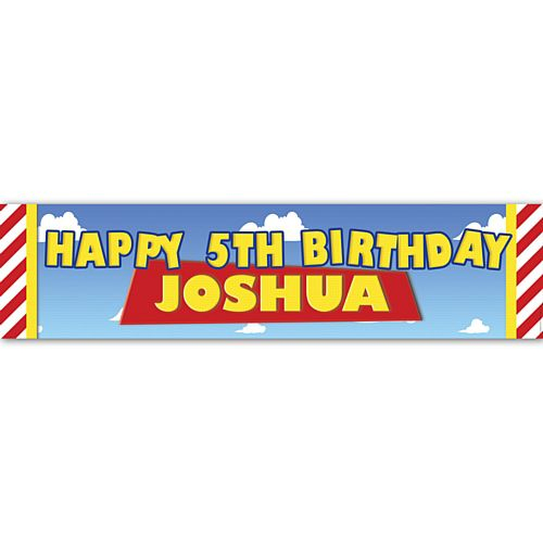 Toys Party Personalised Banner - 1.2m