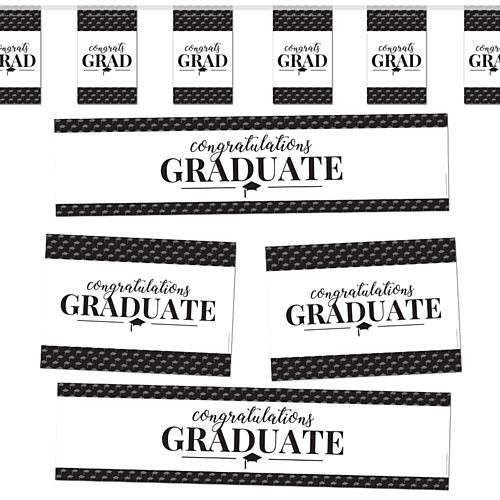 Congratulations Graduate Mortarboard Graduation Decoration Party Pack