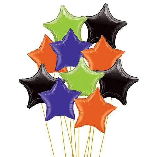 "Halloween Mix 18"" Star Foil Balloon Bouquet"