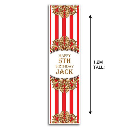 The Greatest Showman Circus Tent Personalised Portrait Wall and Door Banner Decoration - 1.2m