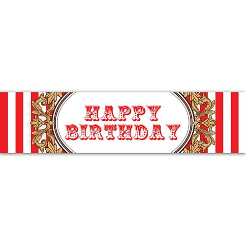 The Greatest Showman Circus Tent Happy Birthday Wall Banner Decoration - 1.2m