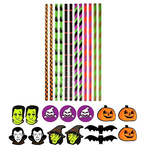 Halloween Paper Straws - Pack of 12
