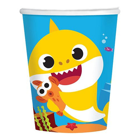 Baby Shark Paper Cups - 266ml - Pack of 8
