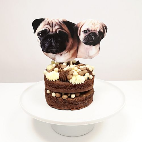 Personalised Pet Selfie Photo Cake Topper - Each