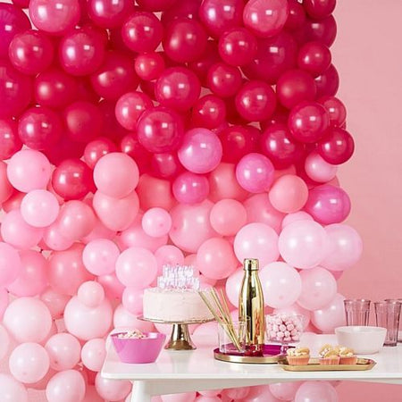 Pink Ombre Balloon Wall Kit - 2m