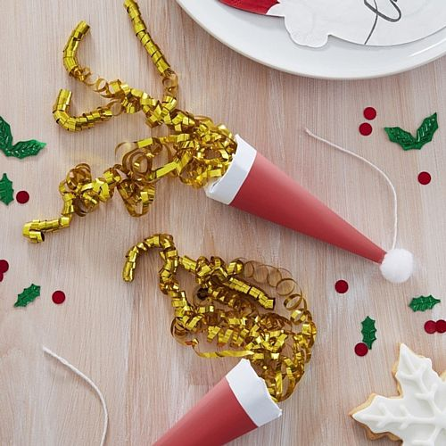Santa Hat Party Poppers - Pack of 8
