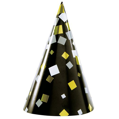 New Years Eve Cone Hats - Pack of 4