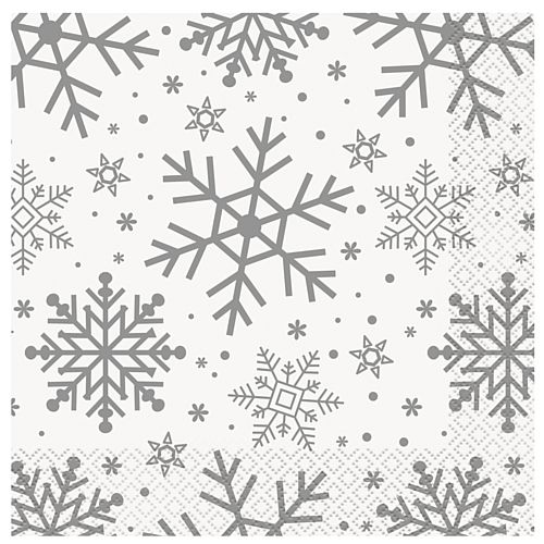 Christmas Snowflakes Napkins - Pack of 16
