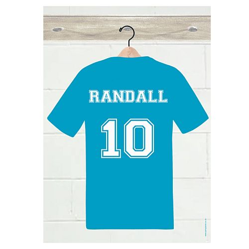 Blue Sports Kit Personalised Poster - A3