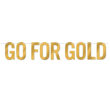 Go for Gold Foil Letter Banner - 1.5m